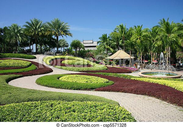Tropical Garden - csp5571328