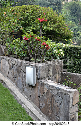 tropical garden - csp20462345