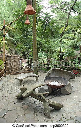 tropical garden - csp3600390