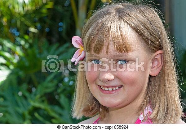 tropical girl - csp1058924