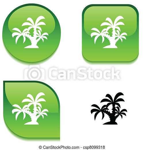 tropical glossy button. - csp8099318