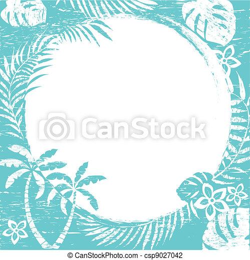 tropical, grunge, resumen, frontera - csp9027042