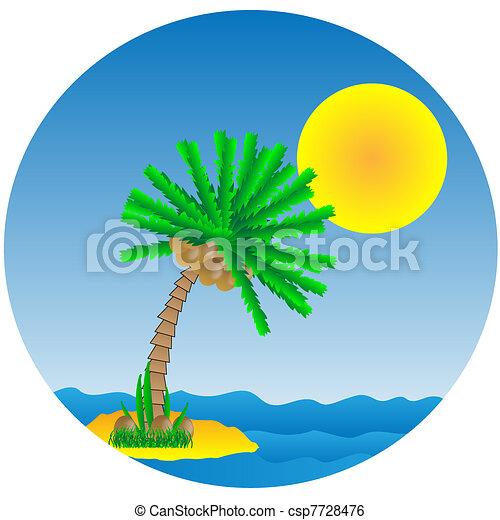 Tropical island - csp7728476