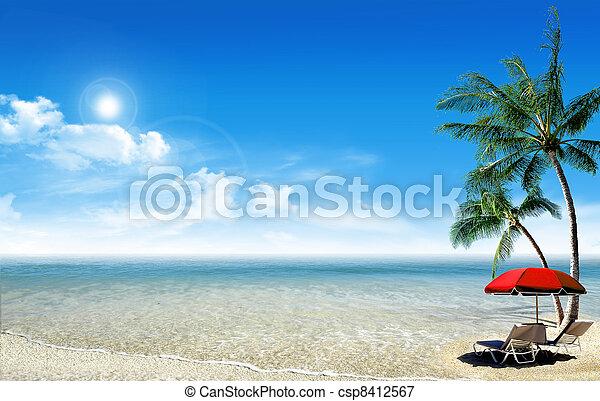 Tropical island - csp8412567