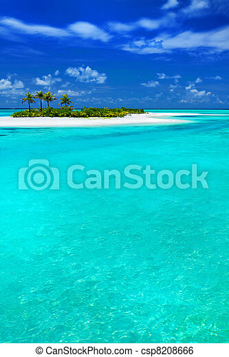 Tropical Island with Coconut Palm-trees - csp8208666