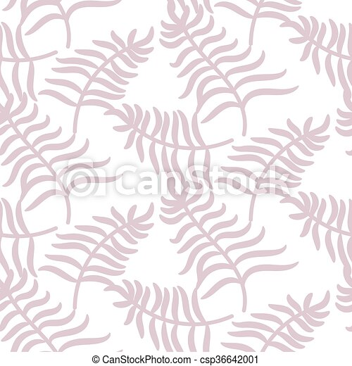 Tropical jungle palm leaves pastel pink color pattern. - csp36642001