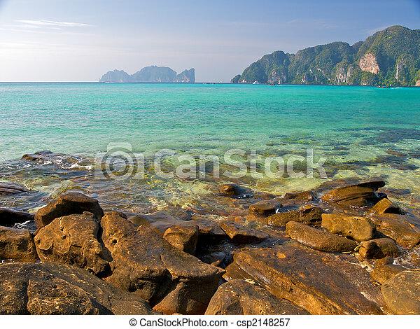 Tropical lagoon - csp2148257