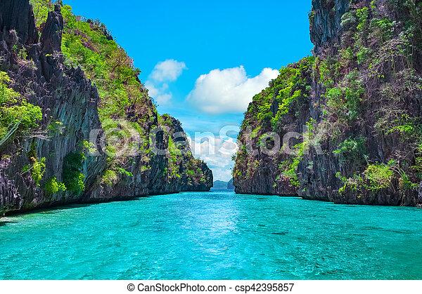 Tropical Landscape El Nido Palawan Philippines