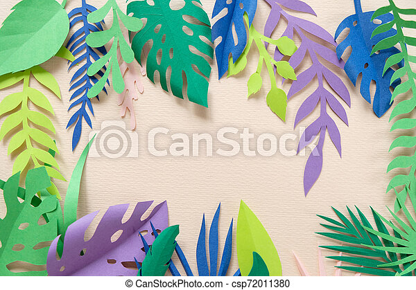 Tropical Leaves Cut From Paper On Pink Background Paper Art Canstock #monstera #greenery #tropical leaves #tropical #banana leaf. https www canstockphoto com tropical leaves cut from paper on pink 72011380 html