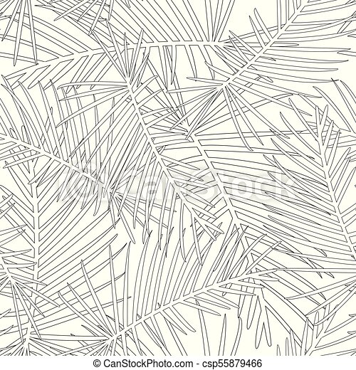 Tropical Leaves Outline On White Background Tropical Leaves Outline Pattern Seamless On White Background Vector Canstock Feel free to download, share and use. https www canstockphoto com tropical leaves outline on white 55879466 html