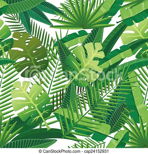tropical leaves seamless pattern tropical leaves floral design