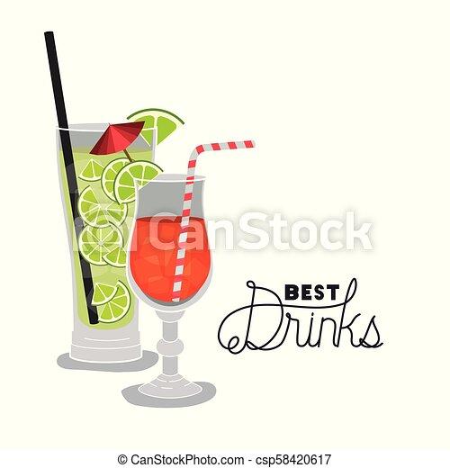 Las mejores bebidas tropicales - csp58420617