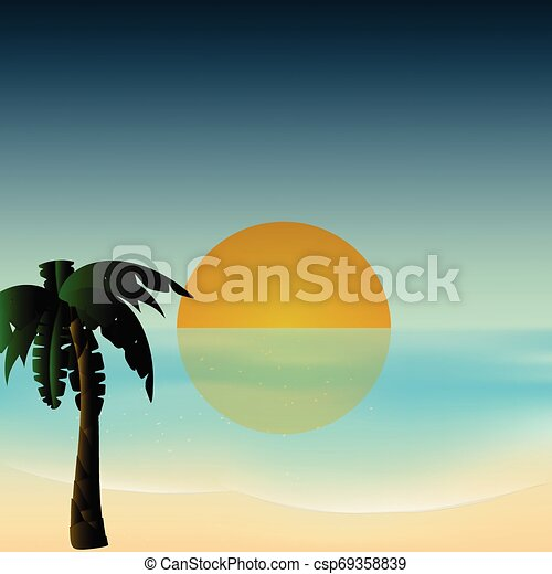 Antecedentes tropicales Sunset - csp69358839