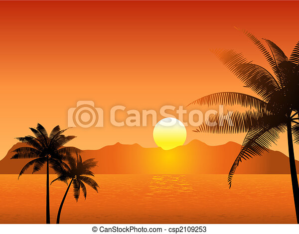 Ocaso tropical - csp2109253