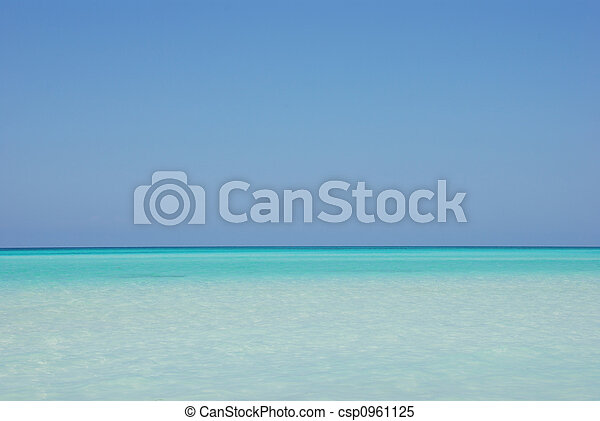 Tropical ocean horizon - csp0961125