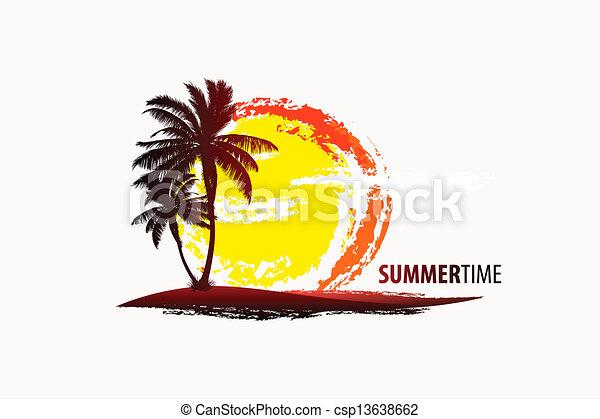 tropical palm - csp13638662