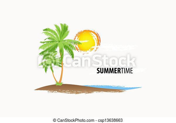 tropical palm - csp13638663