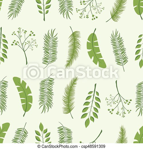 Tropical Palm Leaves Jungle Leaves Seamless Vector Floral Pattern Background Easy To Use For Backdrop Textile Wrapping Paper Wall Posters