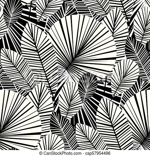 Tropical Palm Leaves Seamless Pattern For Background Wrapping Paper Fabric Modern Botanical Endless Repeatable Motif For Canstock Find the best free stock images about tropical leaves. can stock photo