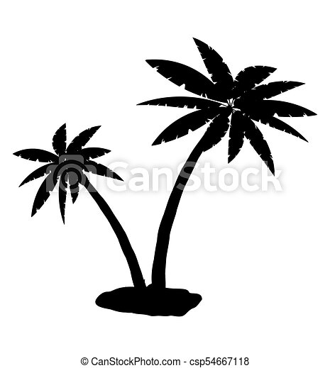 tropical palm silhouette jungle leaves set coconut palm vector rh canstockphoto com palm victory palm victory