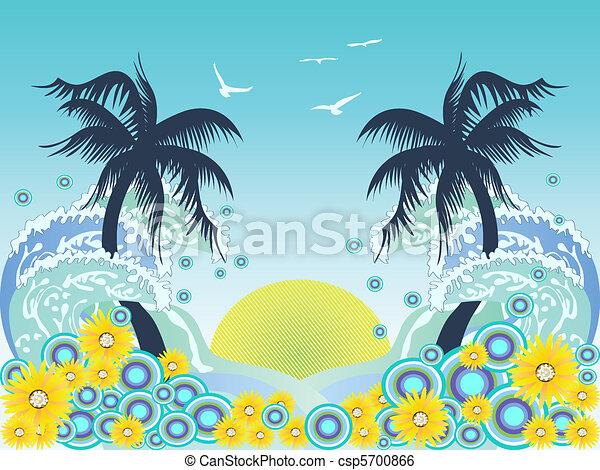 tropical palm tree beach - csp5700866