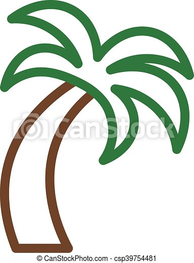tropical palm tree vector vector search clip art illustration rh canstockphoto com palm leaf vector file palm leaf vector background