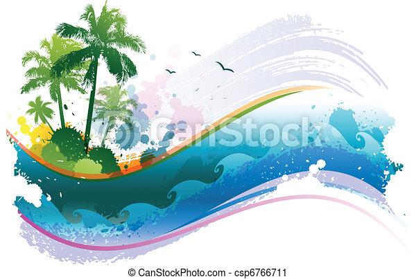 Antecedentes tropicales abstractos - csp6766711