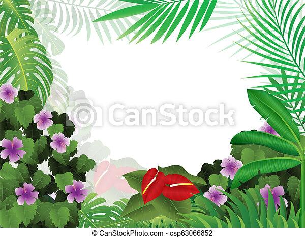 Trasfondo tropical de la selva - csp63066852