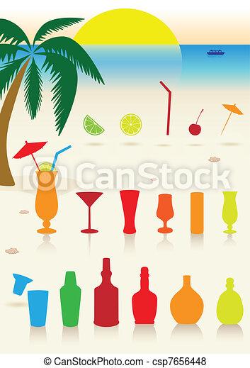 Bebidas tropicales listas. - csp7656448