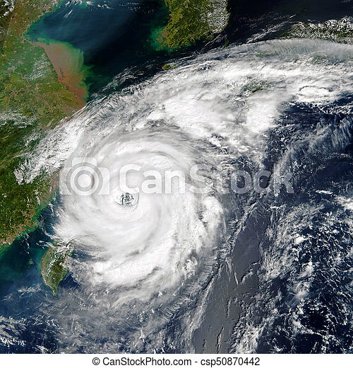 Tropical storm. Elements of this image are furnished by NASA - csp50870442