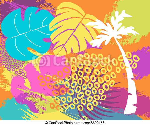 Abstract Palm Tree Clip Art Free