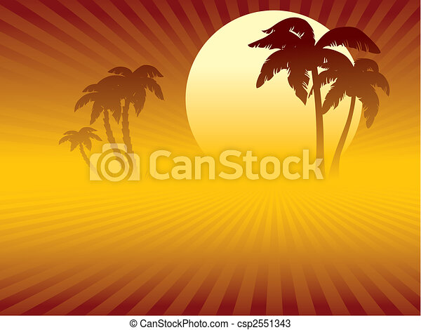 Tropical sunset - csp2551343