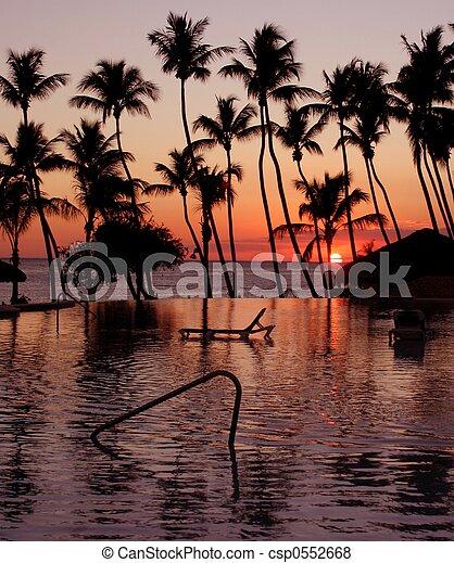 Tropical sunset - csp0552668