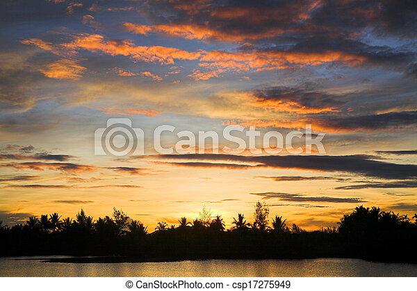tropical sunset - csp17275949