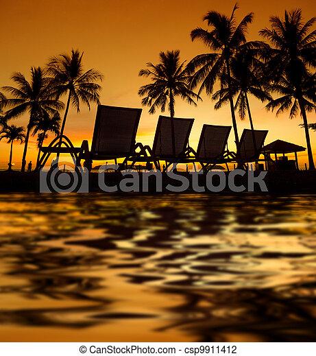 Tropical Sunset - csp9911412