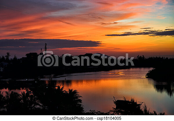 tropical sunset - csp18104005