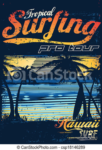 Tropical Surfing - csp18146289