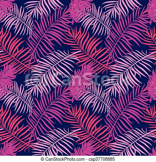 Tropical trendy seamless pattern wi - csp37708885