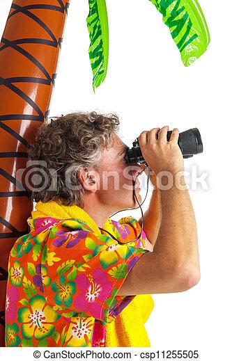 Turista de vacaciones tropicales - csp11255505
