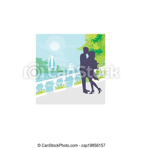 Un par de besos, vacaciones tropicales - csp19856157