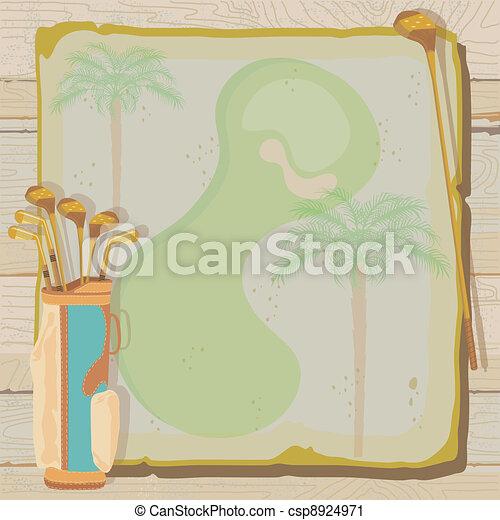 Una invitación para el golf tropical - csp8924971