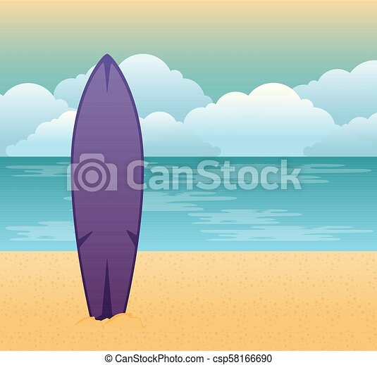 Escena de verano tropical de playa - csp58166690
