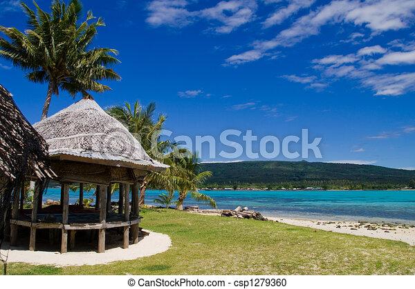 Tropicale capanna spiaggia tropicale samoa capanna for Piani di casa sulla spiaggia contemporanea