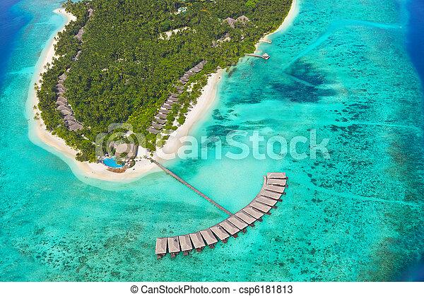 tropikalna wyspa, malediwy - csp6181813