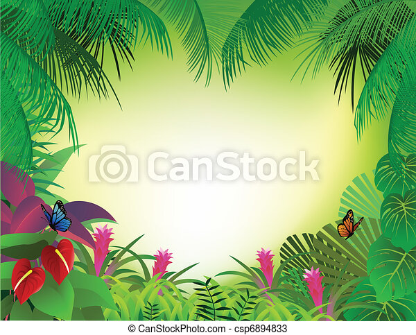 tropikalny las, tło - csp6894833