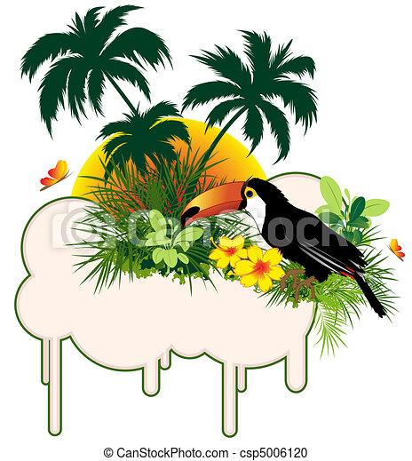 tropikalny ptaszek, dłonie - csp5006120