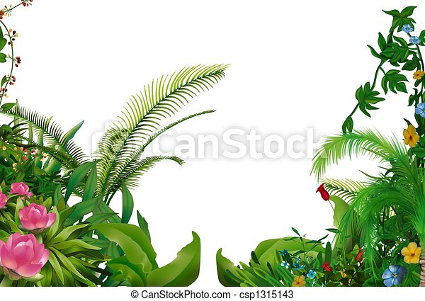 tropikalny, rośliny - csp1315143