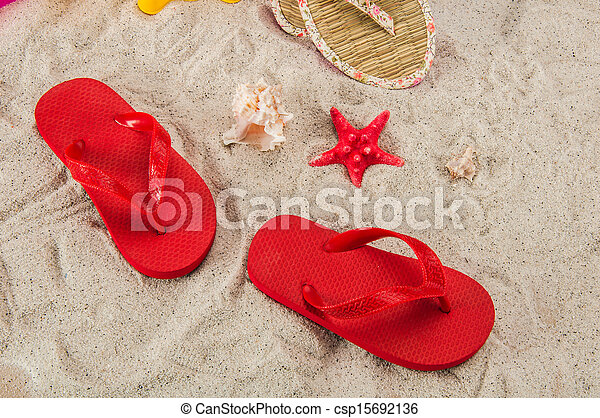 tropisch strand, concept, feestdagen - csp15692136