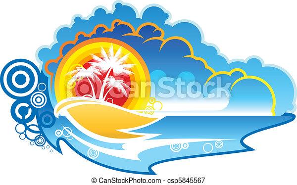 Tropischer abstrakter Hintergrund - csp5845567