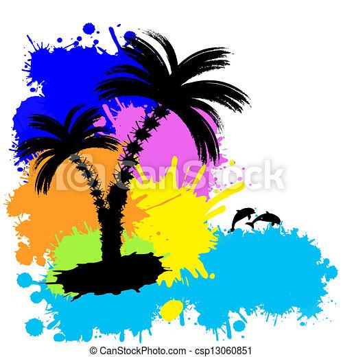 tropische , achtergrond - csp13060851